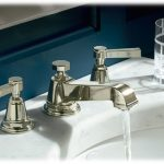 polished nickel bathroom faucet