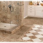 Master bath with tile floor and shower