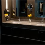 master bath vanity with dual undermount sinks