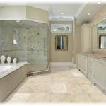 Master bath remodel with greige cabinetry